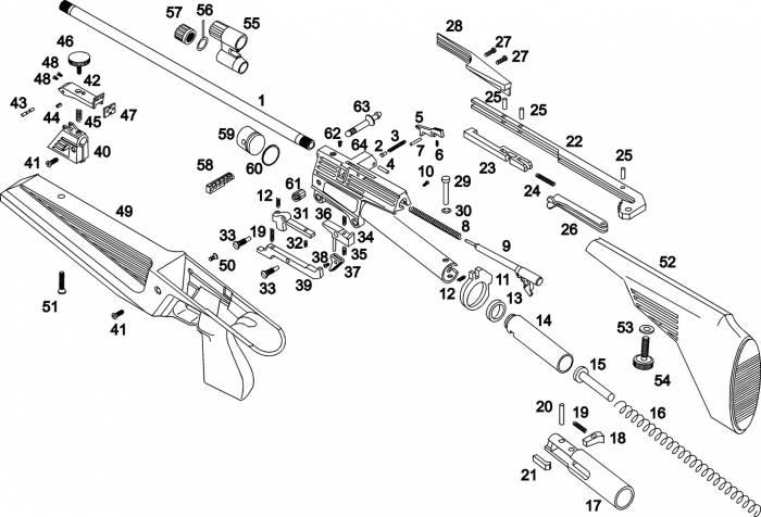 ружье ИЖ-61 схема