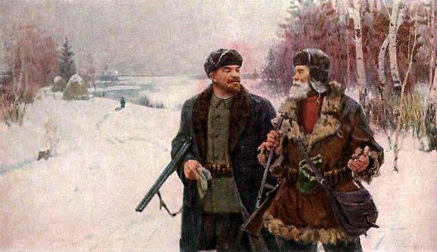 с оружием Ленин